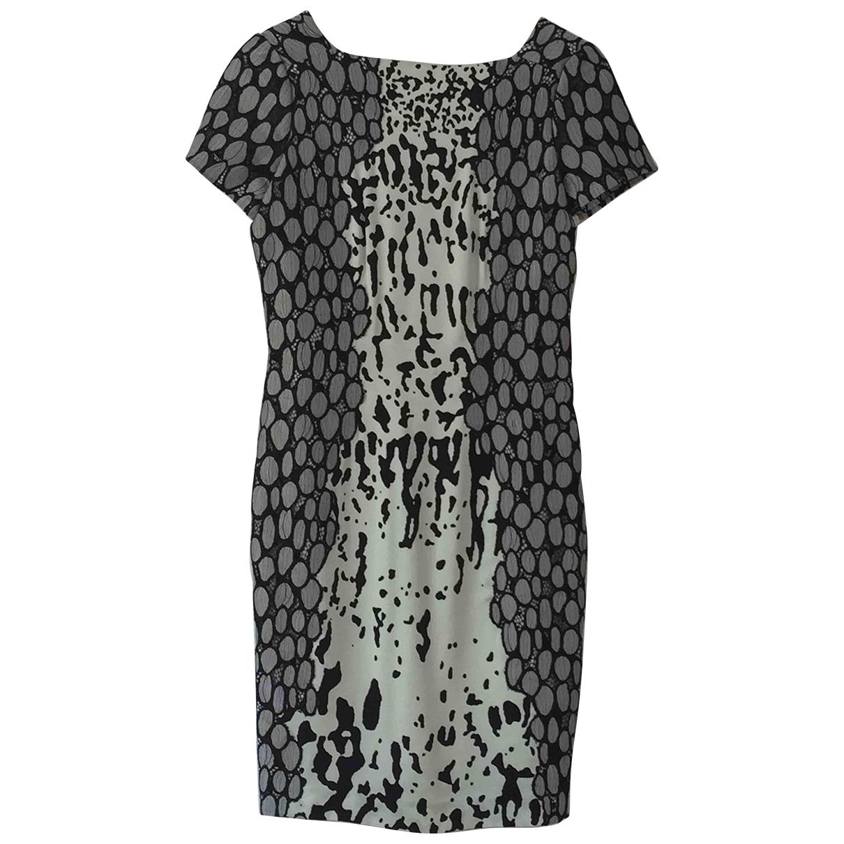 Diane Von Furstenberg \N Grey Silk dress for Women 4 US