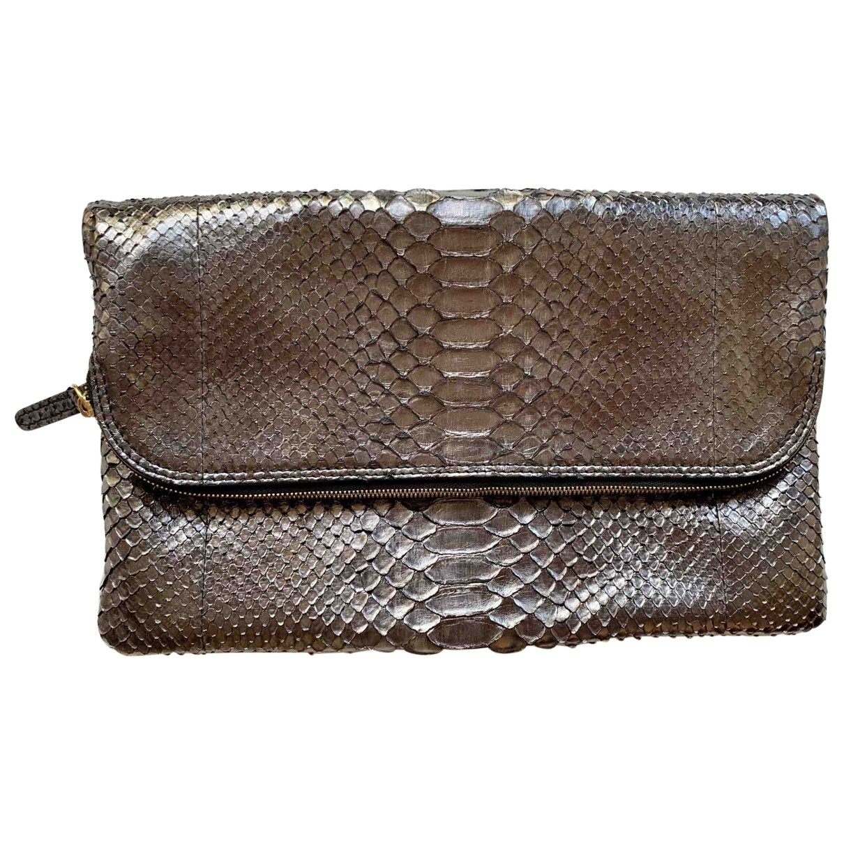 Non Signé / Unsigned \N Silver Python Clutch bag for Women \N