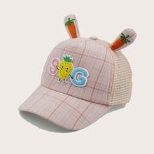 Toddler Girls Strawberry Pattern Baseball Cap