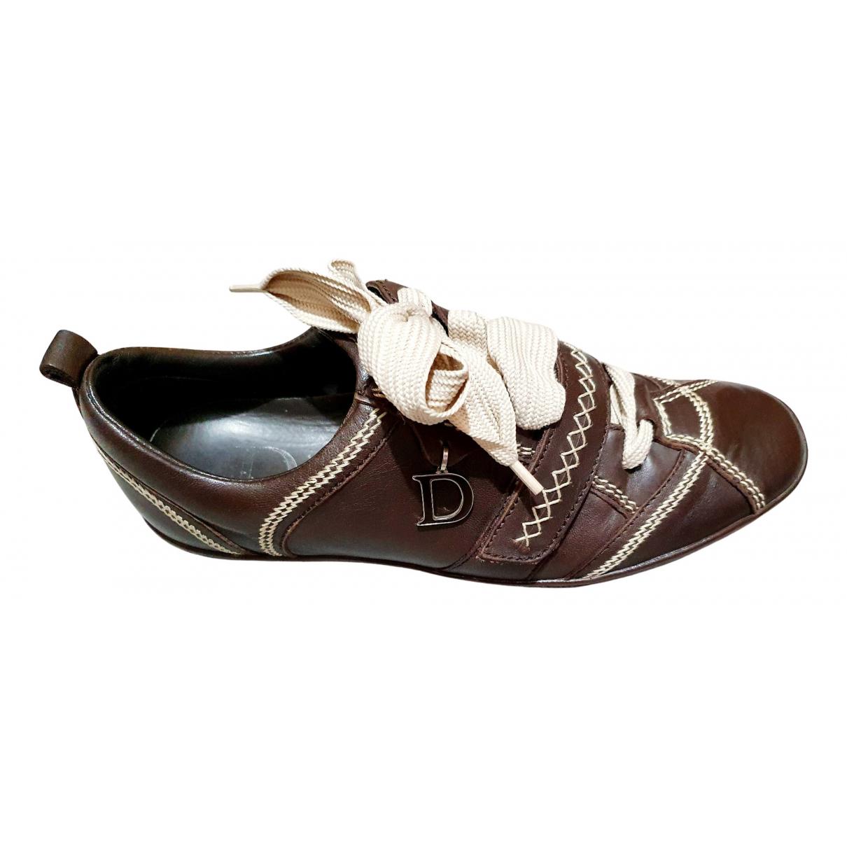 Dior \N Sneakers in  Braun Leder