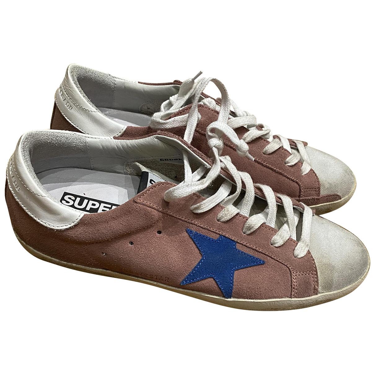Golden Goose Superstar Sneakers in  Rosa Veloursleder