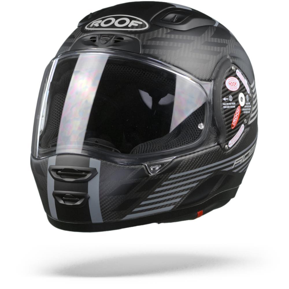 ROOF RO200 Carbon Speeder Casco Integral Negro Mate 2XL