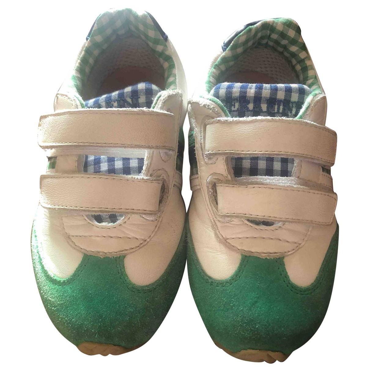Serafini - Baskets   pour enfant en cuir - vert