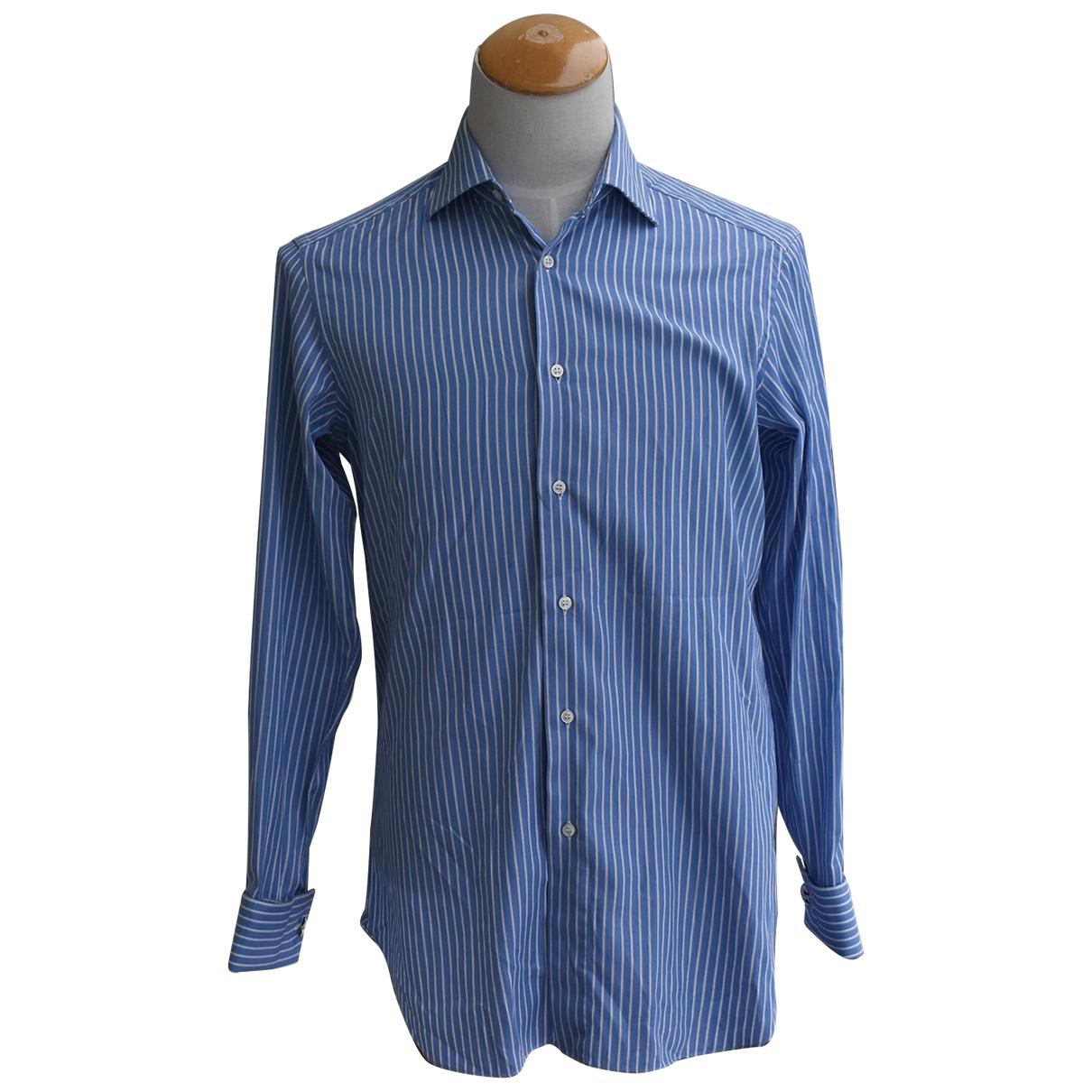 Brioni \N Hemden in  Blau Baumwolle