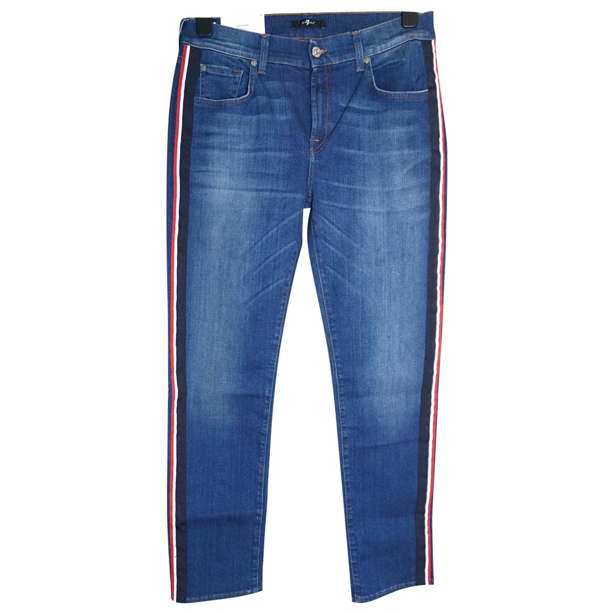 7 For All Mankind \N Cotton - elasthane Jeans for Women 29 US