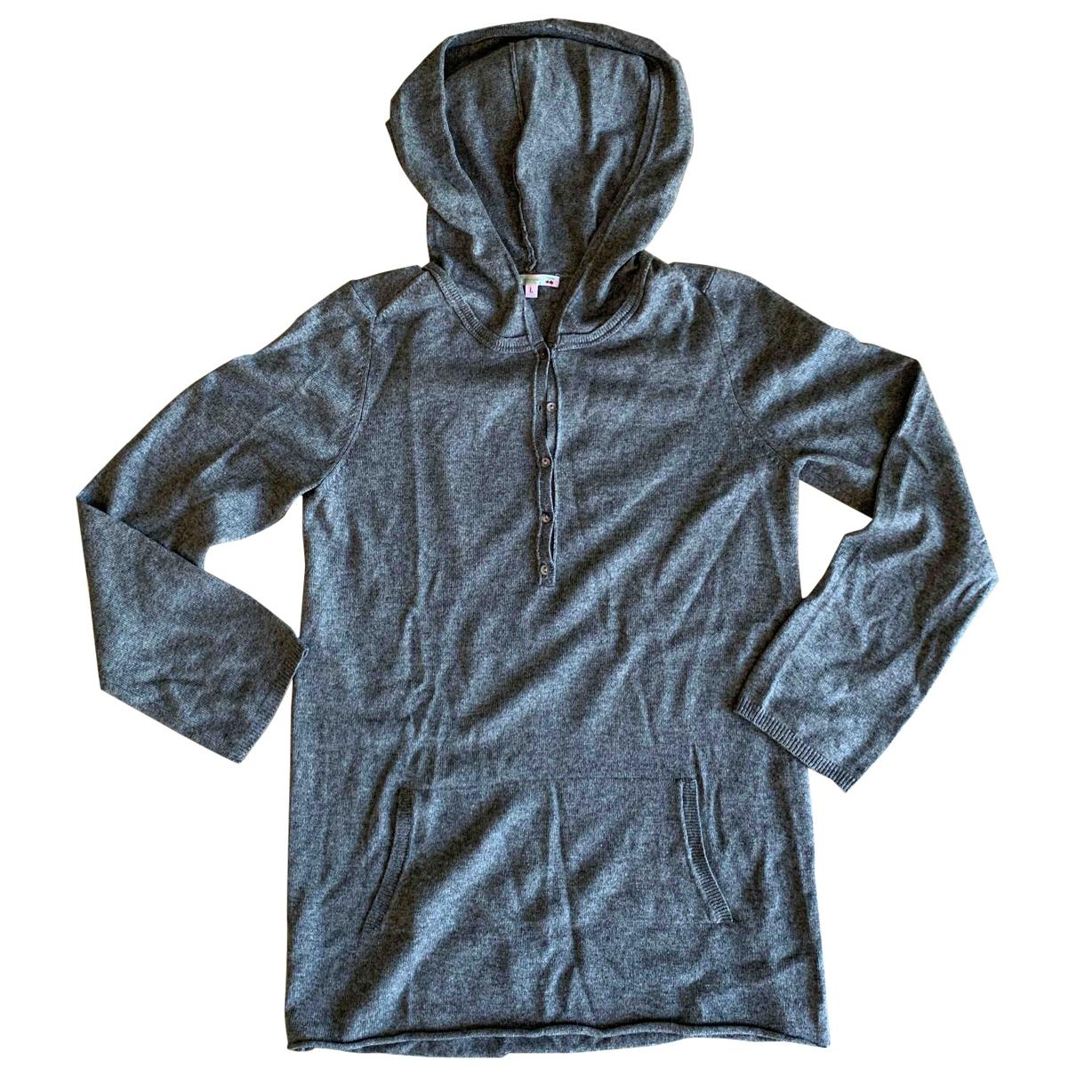 Bonpoint - Pull   pour femme en soie - gris