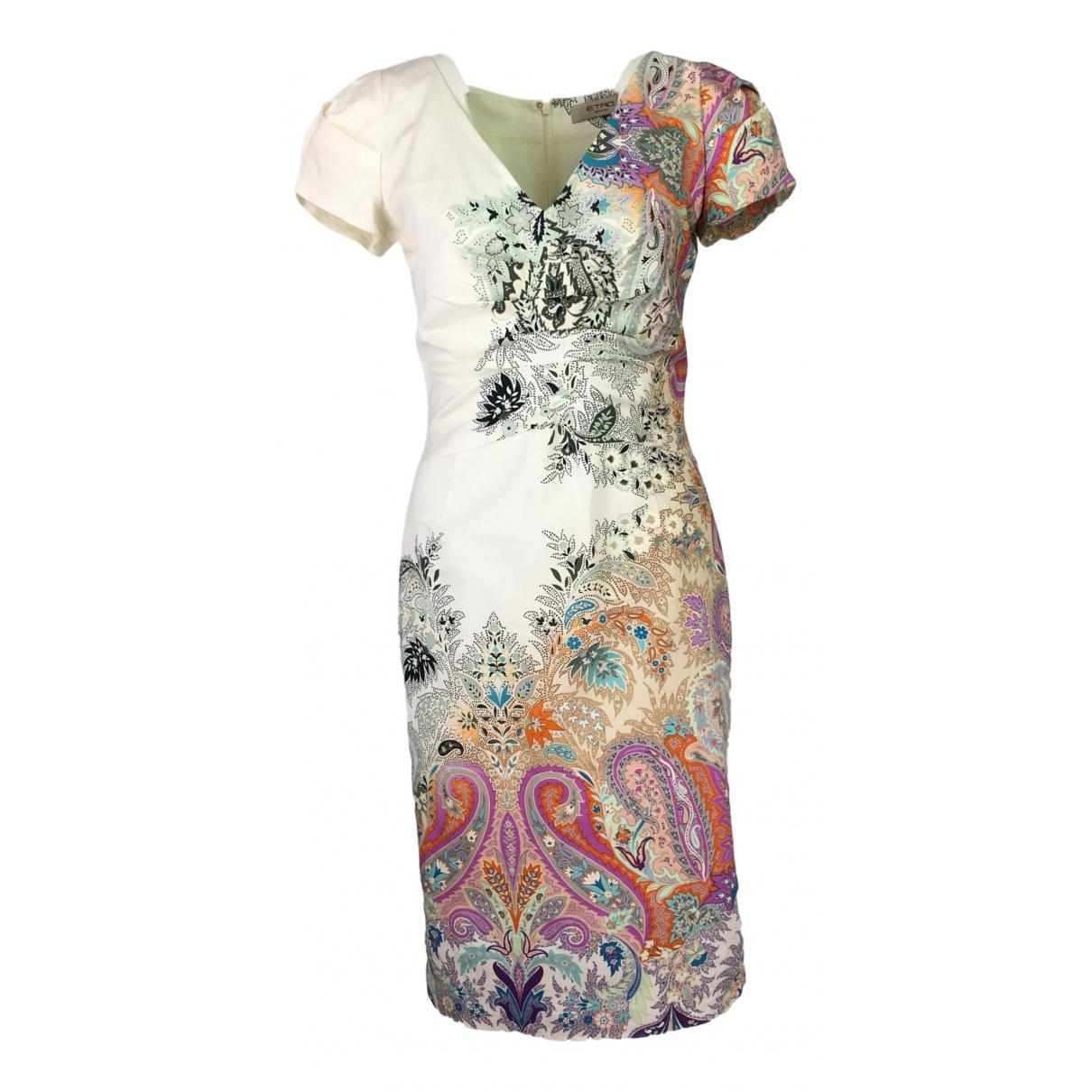 Etro \N Kleid in  Bunt Baumwolle - Elasthan