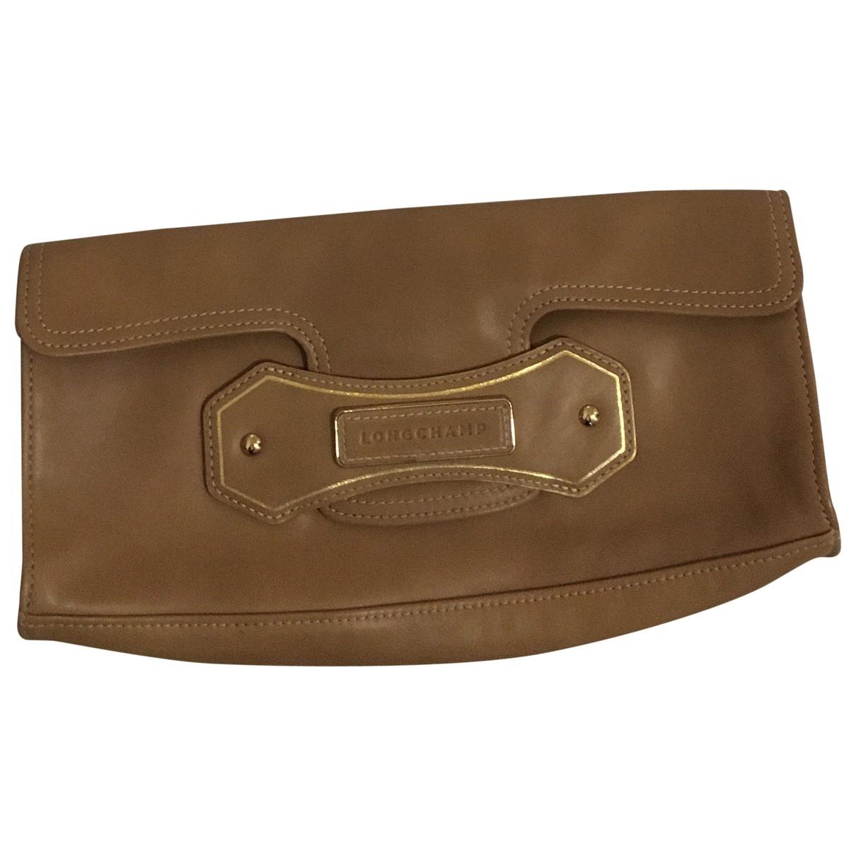 Longchamp \N Brown Leather Clutch bag for Women \N