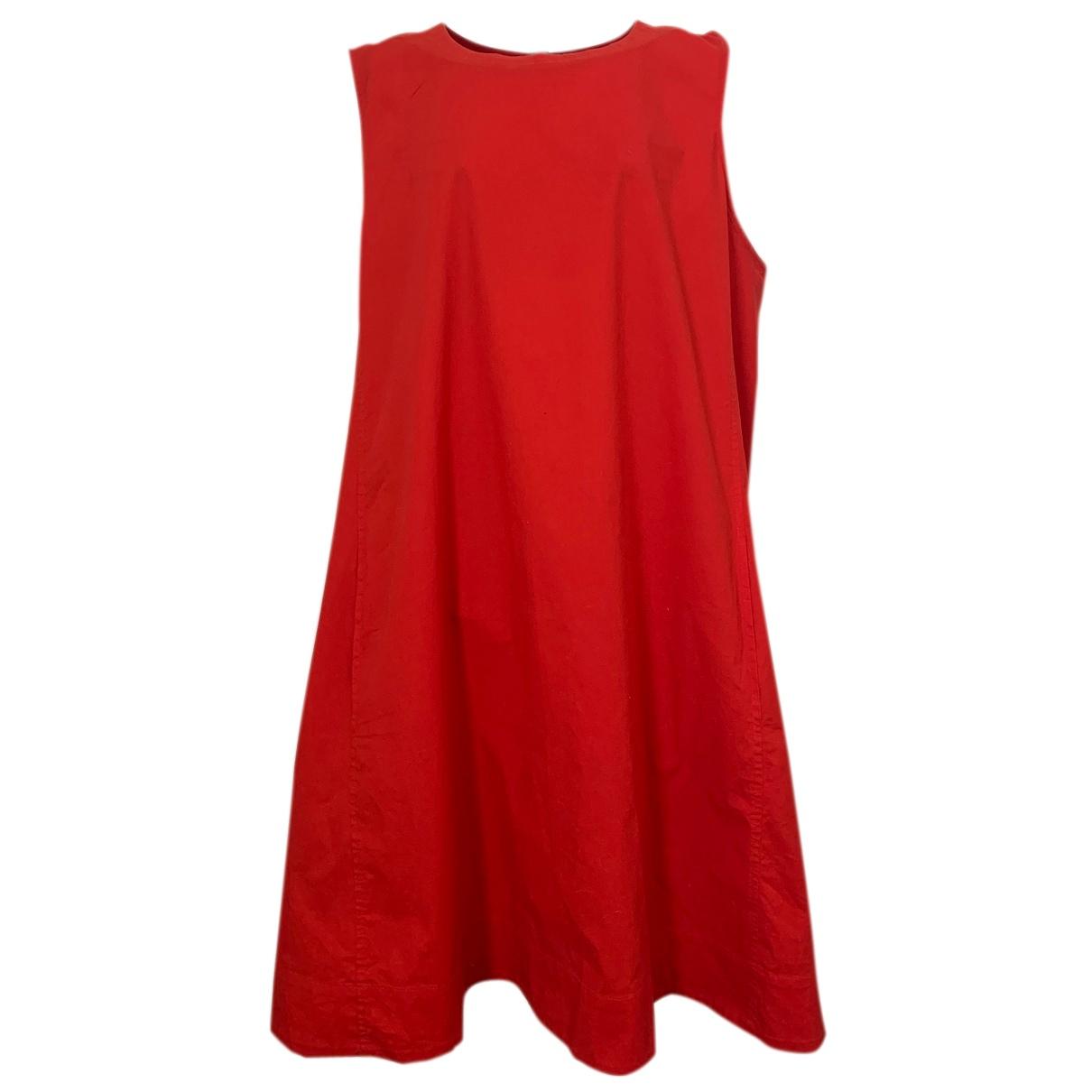 Eileen Fisher \N Kleid in  Rot Baumwolle - Elasthan