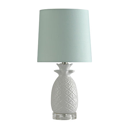 Stylecraft 9 W White Ceramic Table Lamp, One Size , White