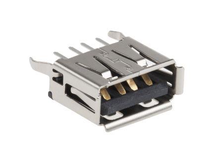 Molex USB Connector, Through Hole, Socket 2.0 A, Solder, Straight- Single Port (2)