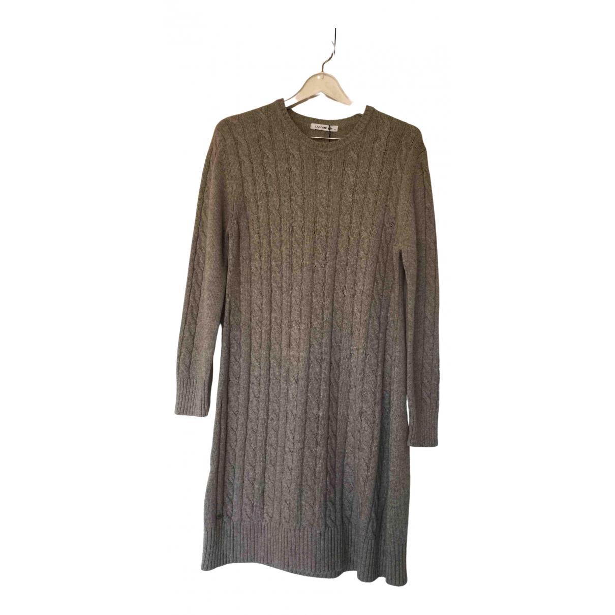 Lacoste \N Kleid in  Beige Kaschmir
