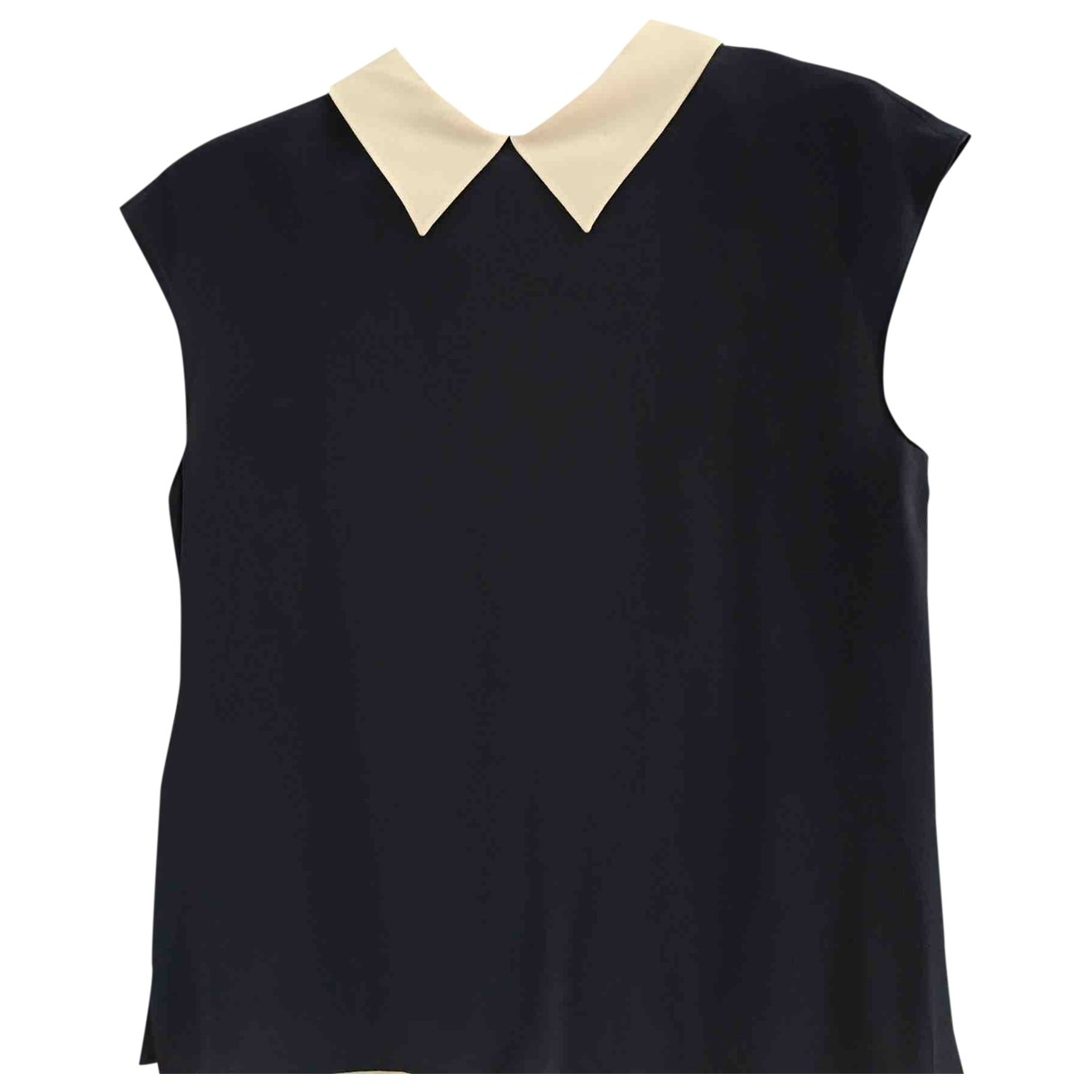 Prada \N Navy Silk  top for Women 38 FR