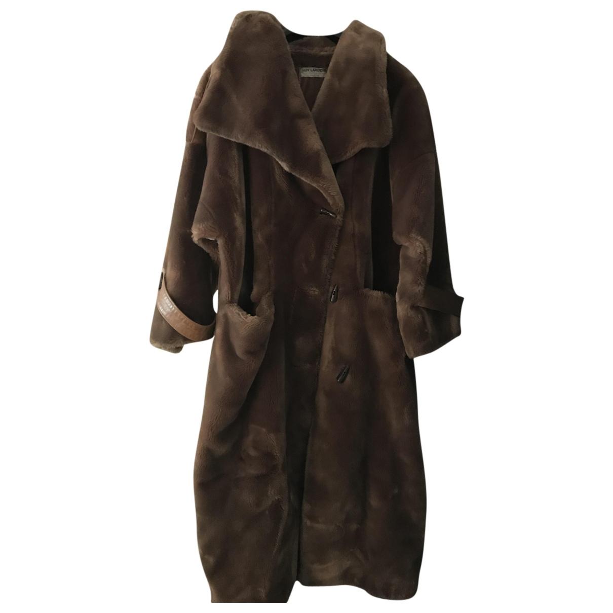 Guy Laroche N Brown Faux fur coat for Women 40 FR