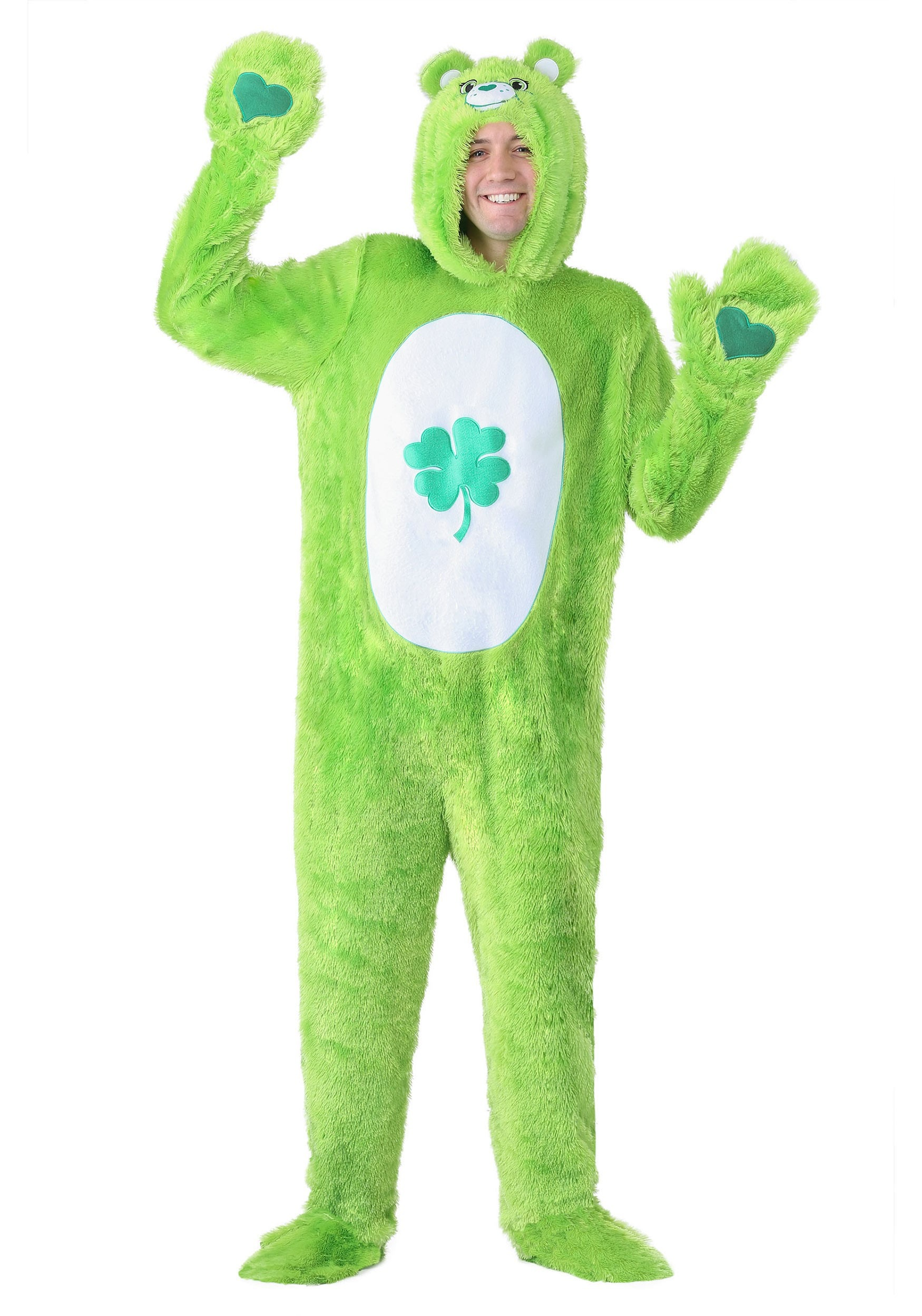Care Bears Adult Classic Good Luck Bear Costume Hooded Jumpsuit