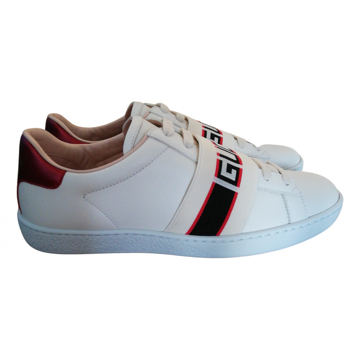 Gucci \N Beige Leather Trainers for Women 38 EU