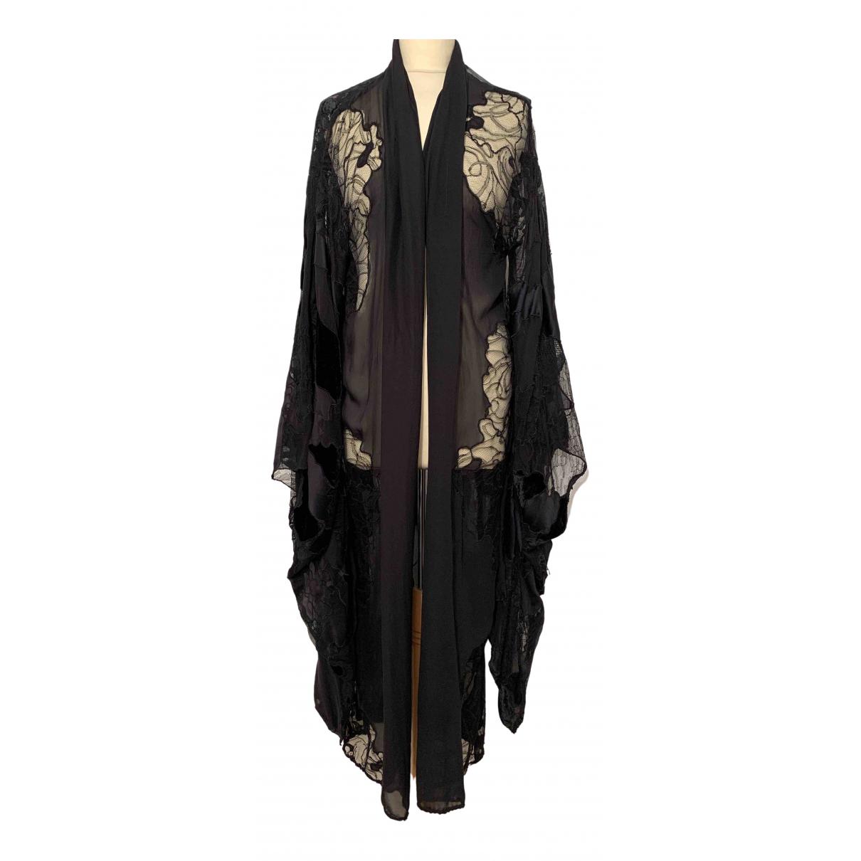 Roberto Cavalli - Manteau   pour femme en soie - noir