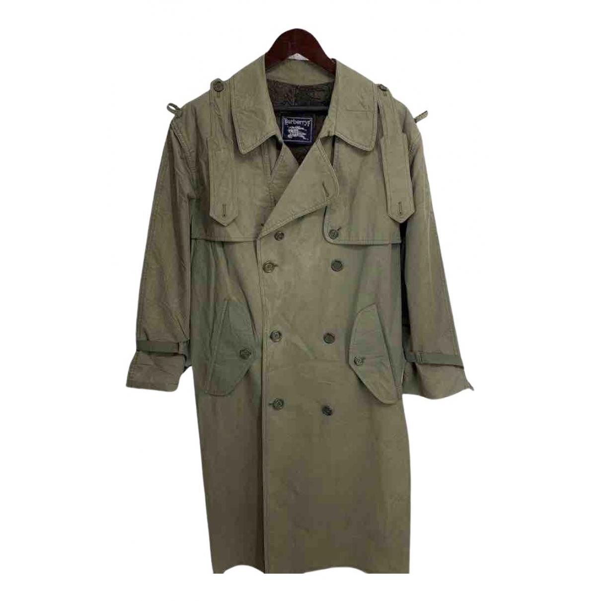 Burberry N Green Cotton coat  for Men XXL International