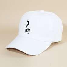 Baseball Hut mit Karikatur Stickereien