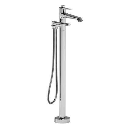 Venty VY39C-EX 2-Way Thermostatic Coaxial Floor Mount Tub Filler with Hand Shower  in