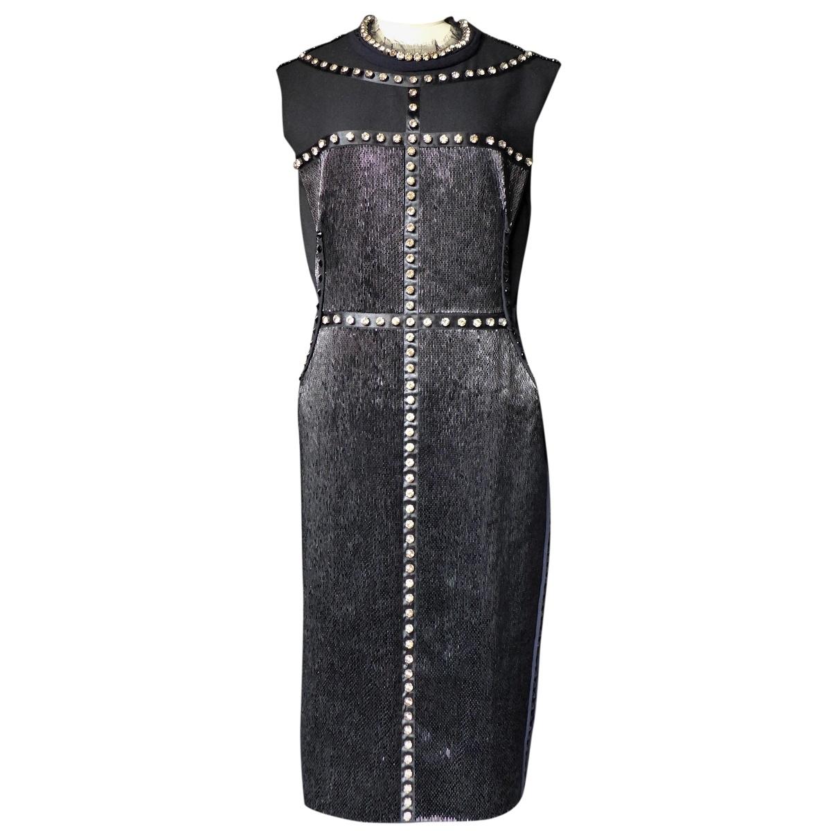 Lanvin \N Kleid in  Schwarz Mit Pailletten