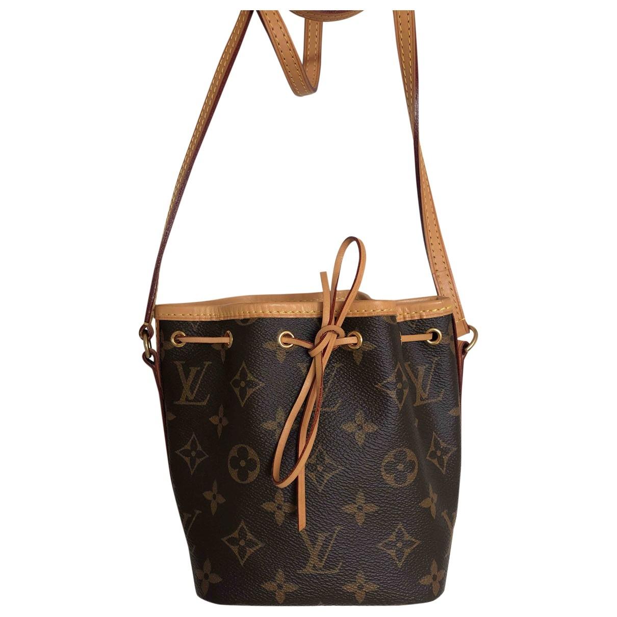 Louis Vuitton NeoNoe BB Handtasche in  Braun Leinen