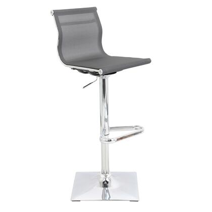 BS-TW-MIRAGE SV Mirage Height Adjustable Contemporary Barstool with Swivel in