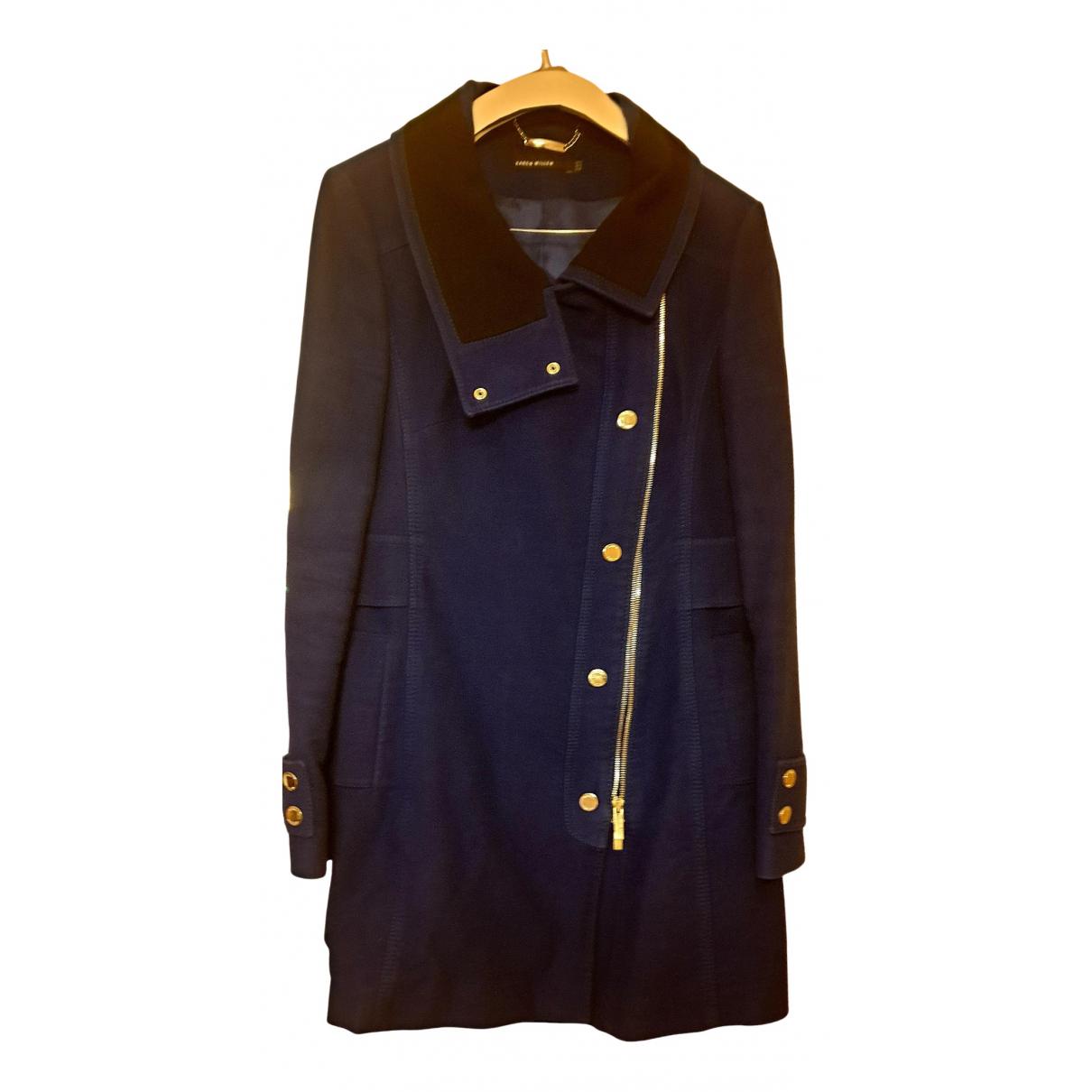 Karen Millen N Purple Cotton coat for Women 14 UK