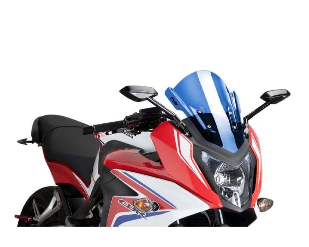 Puig 7003A Z-Racing Windscreen - Blue Honda CBR650F 2014