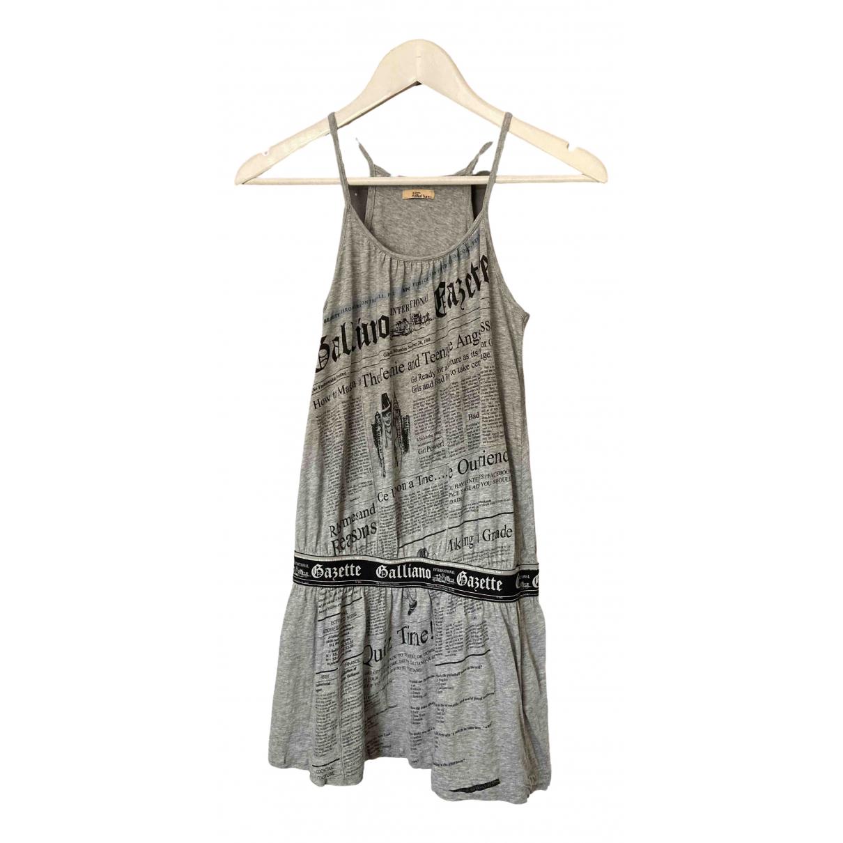 Galliano - Robe    pour enfant en coton - gris