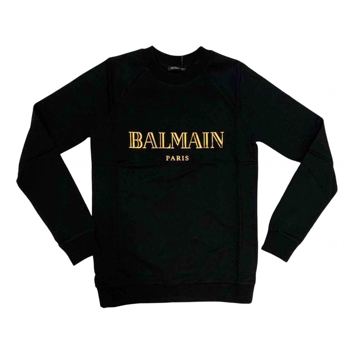 Balmain N Black Cotton Knitwear for Women 38 FR