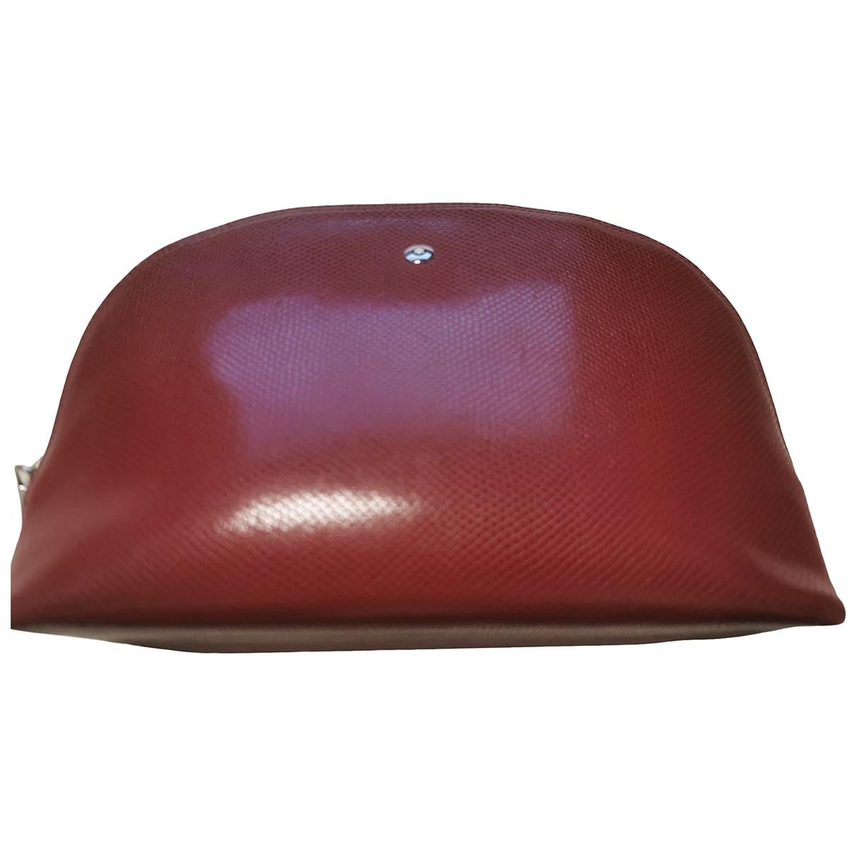 Montblanc - Petite maroquinerie   pour femme en cuir - bordeaux