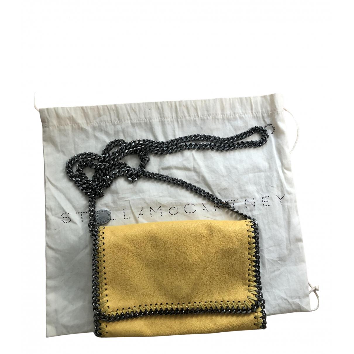 Stella Mccartney \N Handtasche in  Gelb Leinen