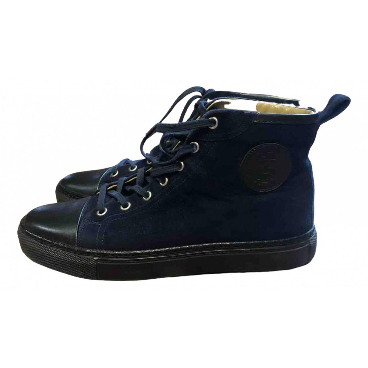 Hermes \N Sneakers in  Blau Leder