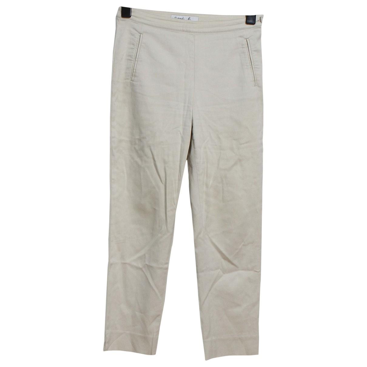 Agnès B. \N Beige Cotton Trousers for Women 38 FR