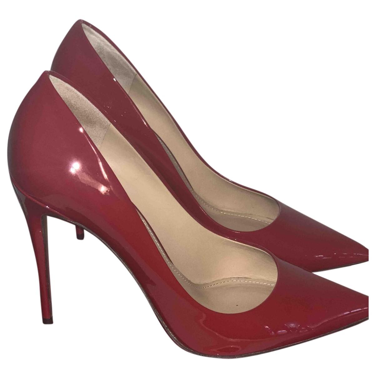 Salvatore Ferragamo - Escarpins   pour femme en cuir verni - rouge