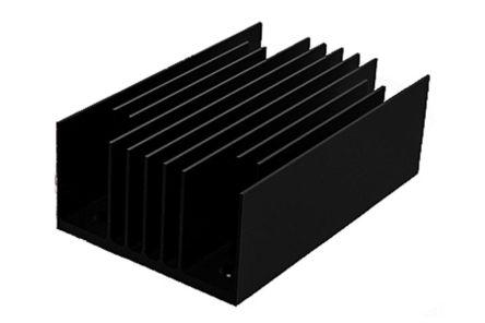 SPREADFAST Heatsink, 1/4 Brick DC/DC Converter, 62 x 40 x 22mm, Black