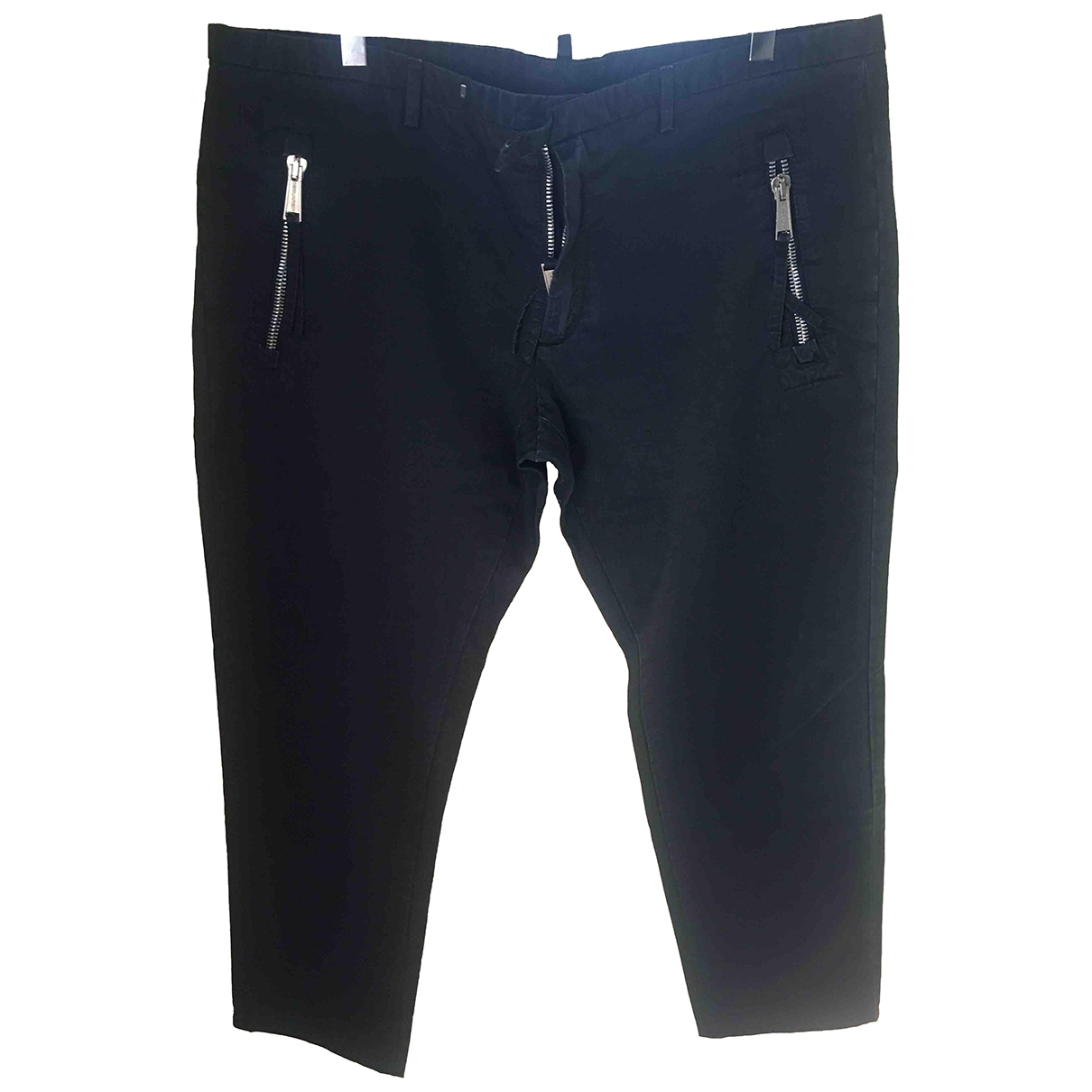 Dsquared2 \N Navy Cotton Trousers for Men 52 IT