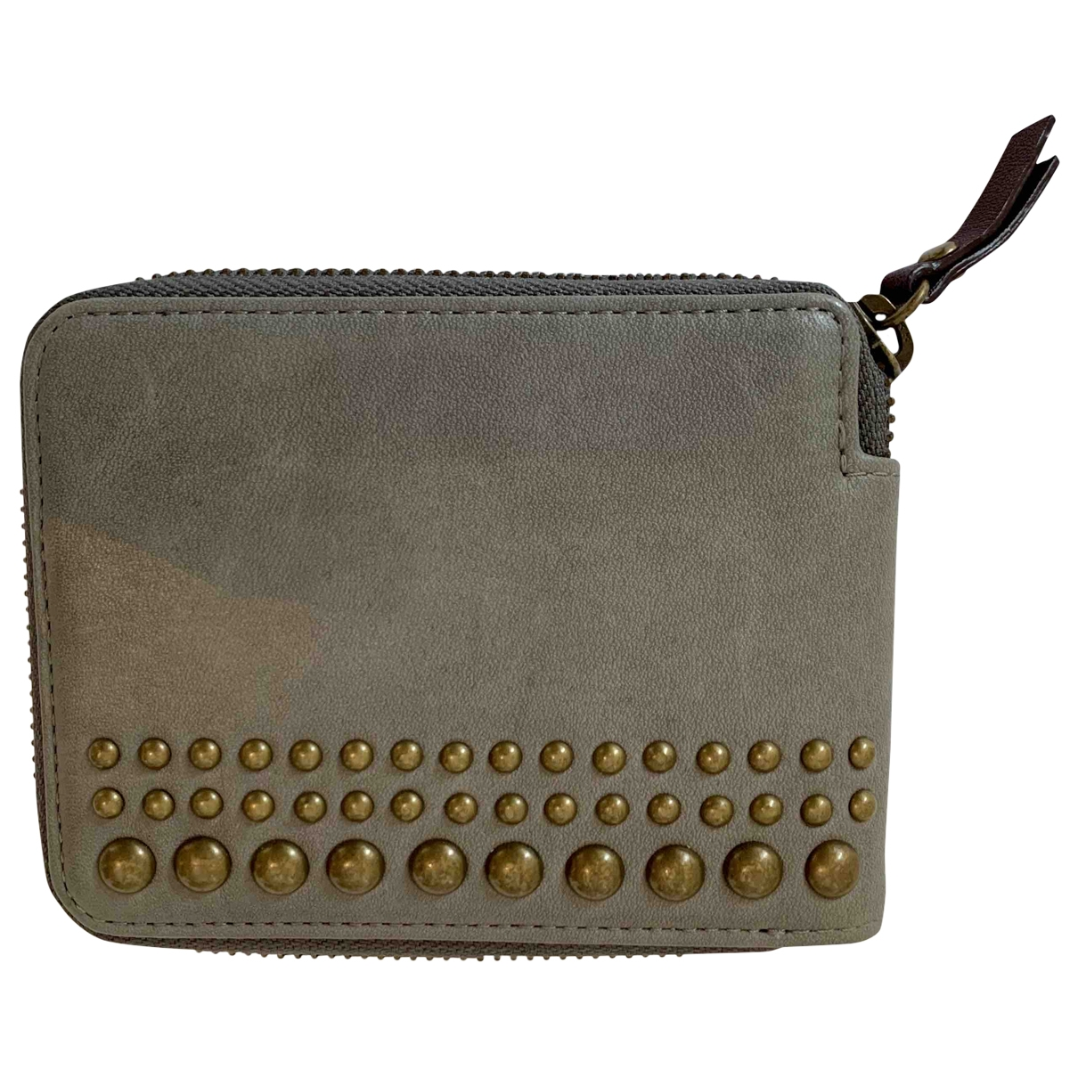 Kenzo \N Grey Leather Small bag, wallet & cases for Men \N