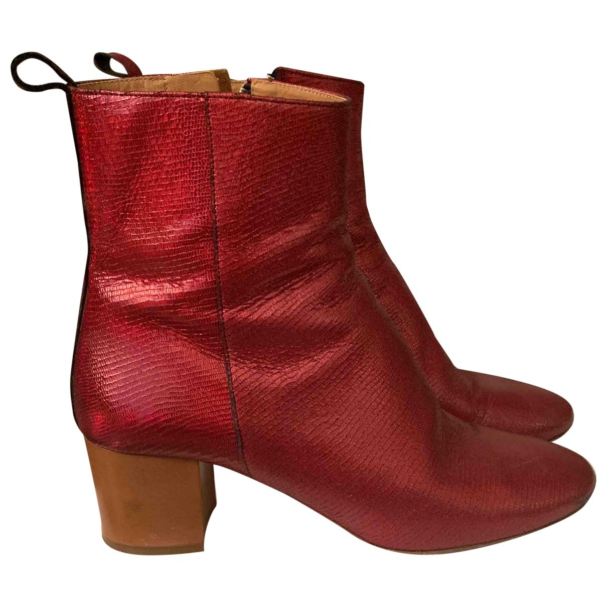 Isabel Marant Etoile \N Stiefel in  Rot Krokodil