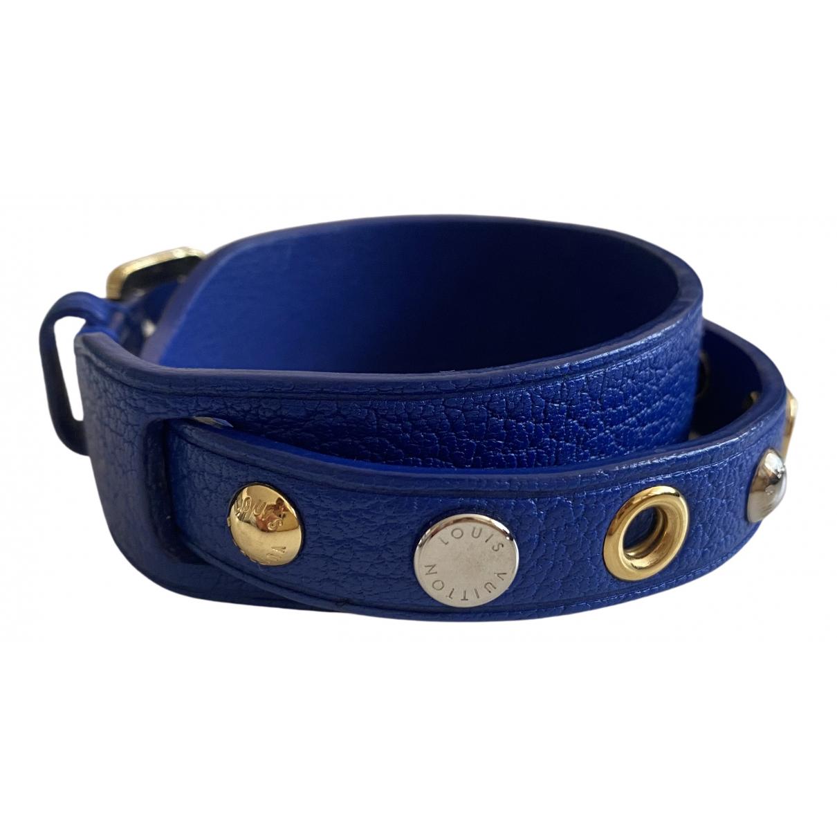 Louis Vuitton - Bracelet   pour femme en cuir - bleu