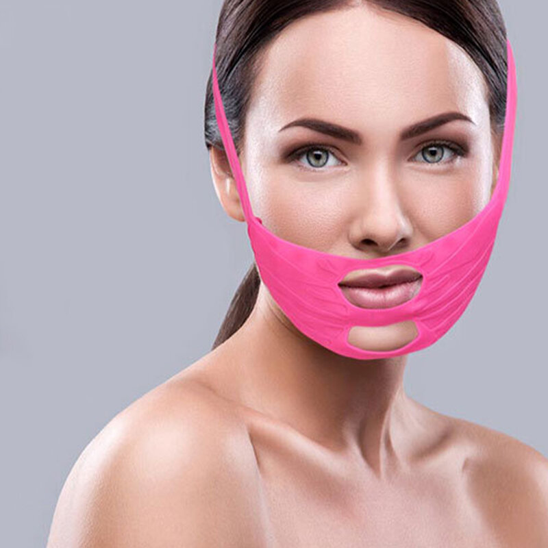 Silicone Beauty Mask Cheek Lift Anti Wrinkle Improve Law PatternFacial Massage Mask