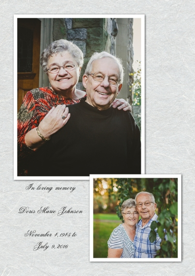 Sympathy 5x7 Cards, Premium Cardstock 120lb with Rounded Corners, Card & Stationery -Textured Gray