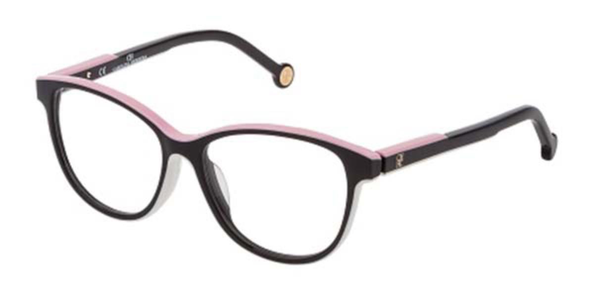 Carolina Herrera VHE800 06HC Men's Glasses Black Size 52 - Free Lenses - HSA/FSA Insurance - Blue Light Block Available