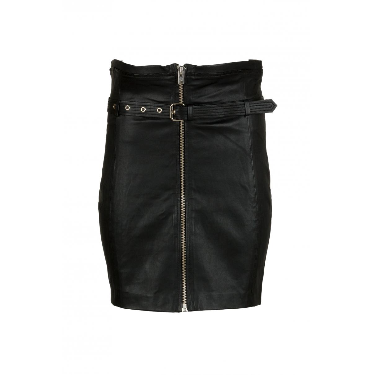 Iro \N Black Leather skirt for Women 38 FR
