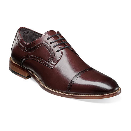 Stacy Adams Mens Dickinson Oxford Shoes, 10 Medium, Red