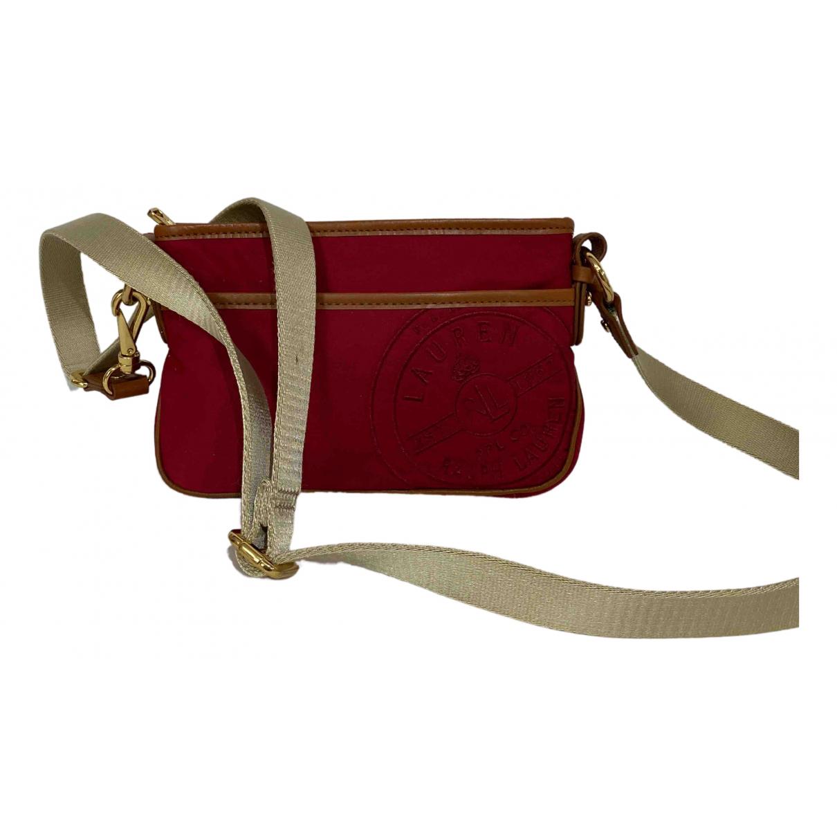 Lauren Ralph Lauren \N Handtasche in  Rot Leinen