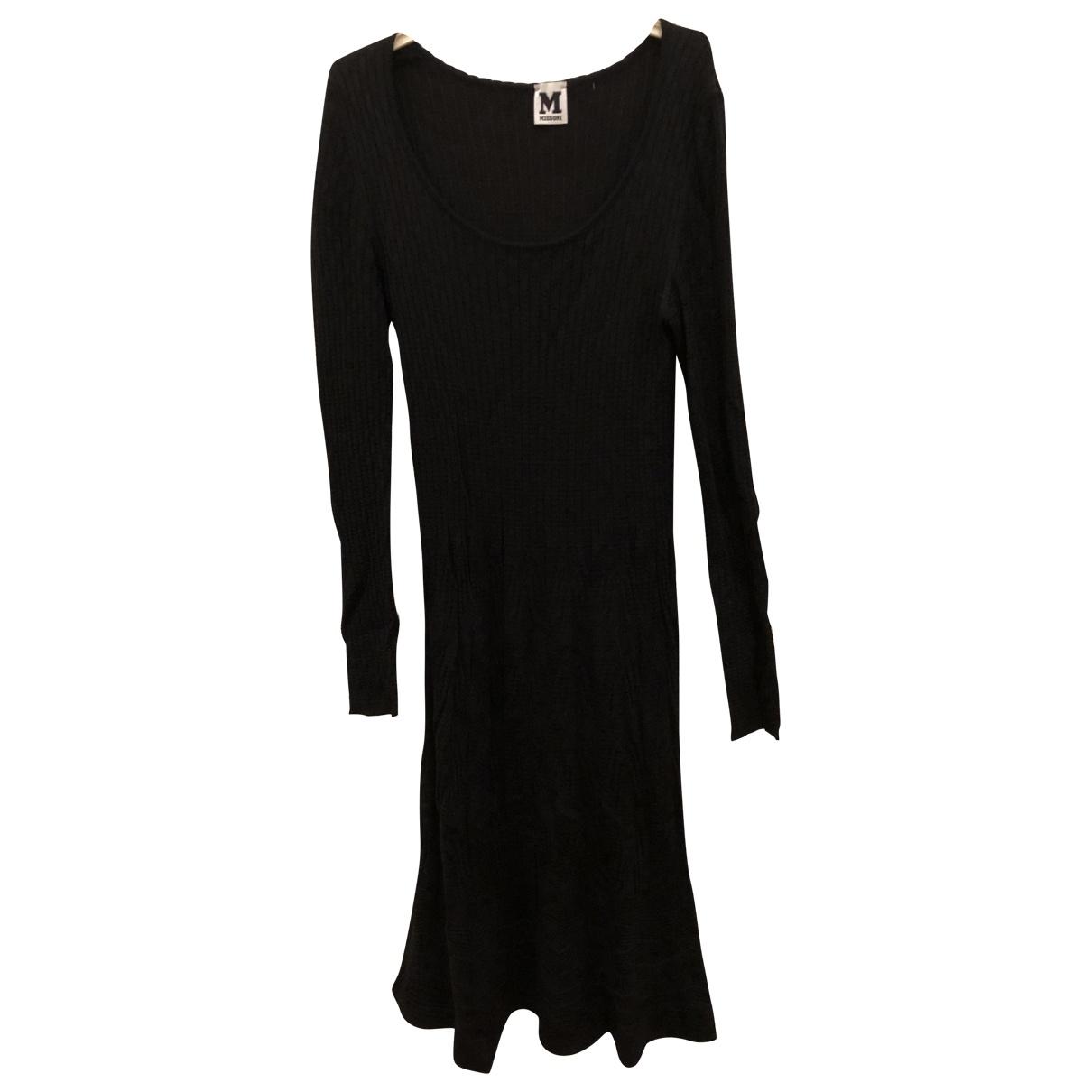 M Missoni - Robe   pour femme en laine - noir