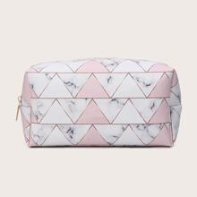 Make-up Tasche mit Dreieck Muster