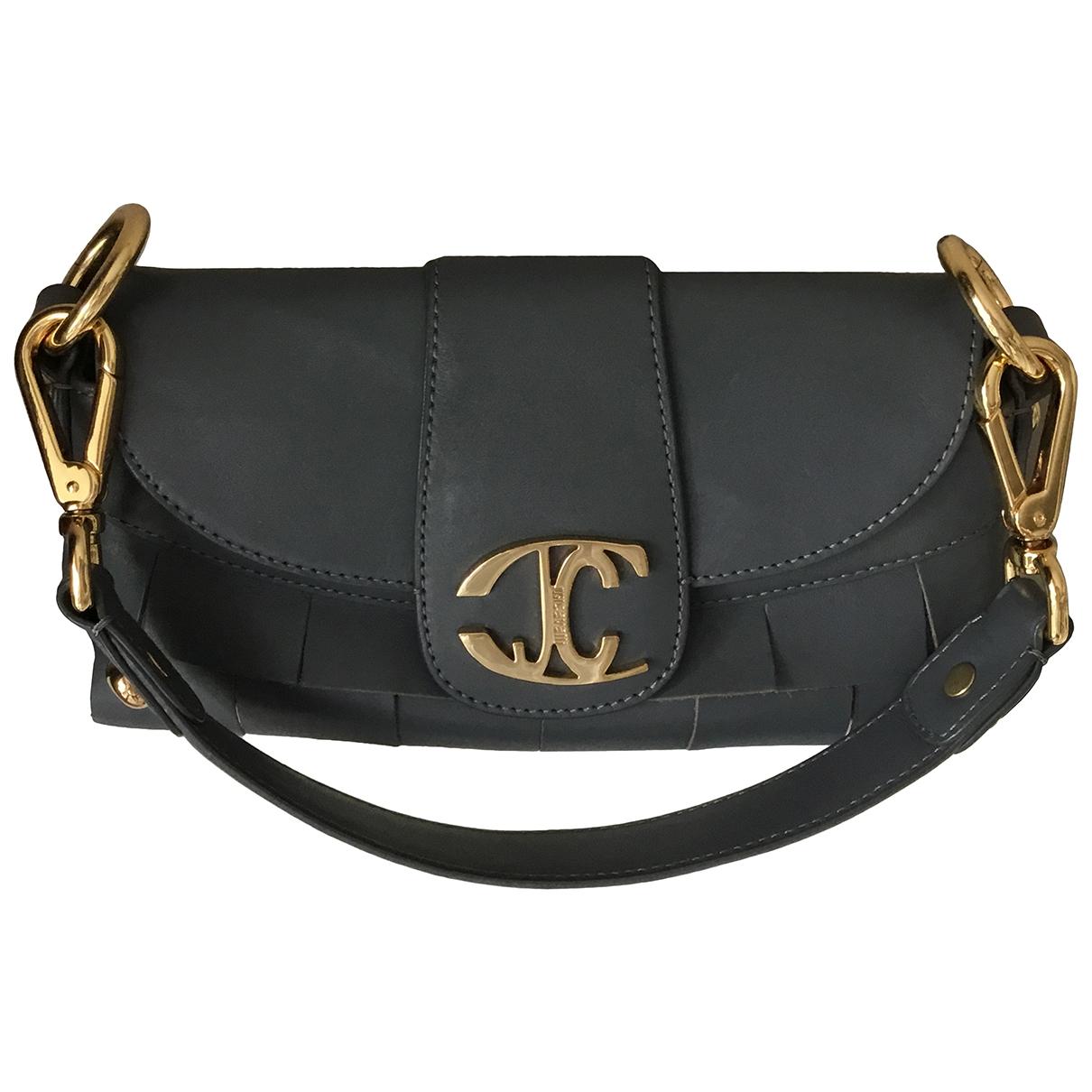 Just Cavalli \N Grey Leather Clutch bag for Women \N